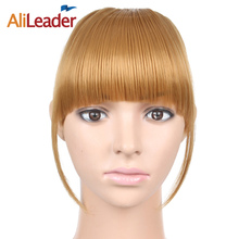hot deal buy alileader kanekalon natural fake hair blunt bangs extensions fringe hair piece front hair bang synthetic clip extensions