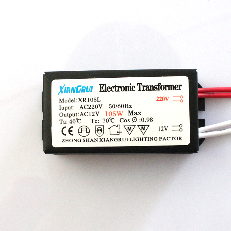 105w 12v Halogen Light Led Electronic Transformer Supply Driver Lighting Transformers In From Lights On
