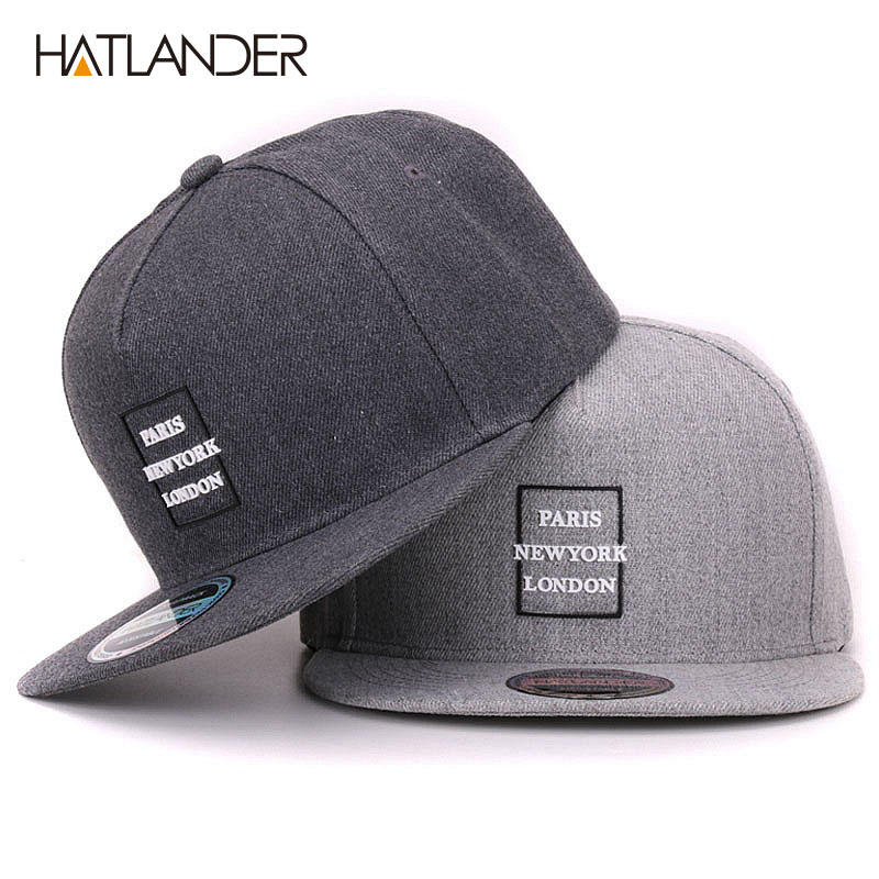 [HATLANDER] branded cotton vintage hip hop baseball cap for women 3D letter strap back hats adjustable classic 5panels mens caps