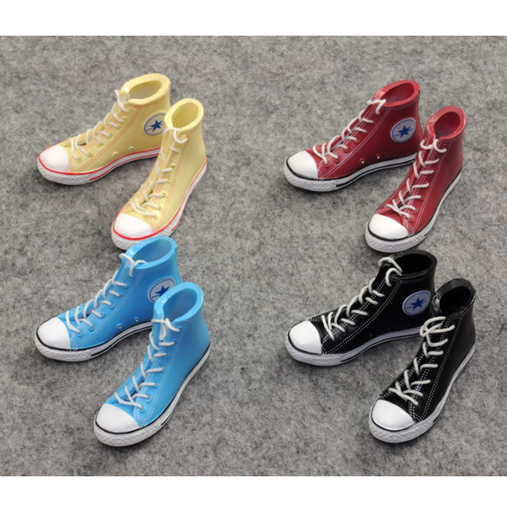 "1//6 Men Shoes Converse Lace Up Sneakers For 12/"" Hot Toys Phicen Male Figure"