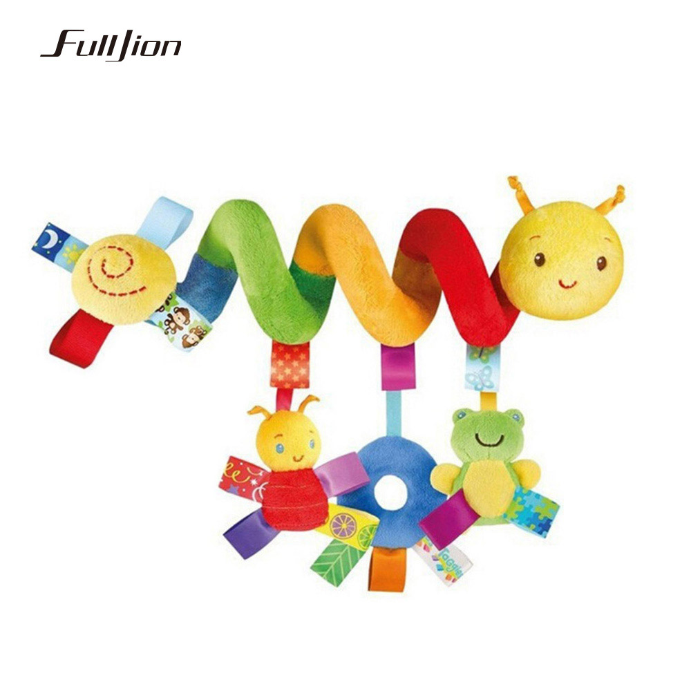 Fulljion Baby Rattles Mobiles Educational Toys For Children Teether Toddlers Bed Bell Baby Playing Kids Stroller Hanging Dolls baby rattles toys 8pcs teether music hand shake bed bell newborns plastic animal rattles gift educational baby toys 0 12 months
