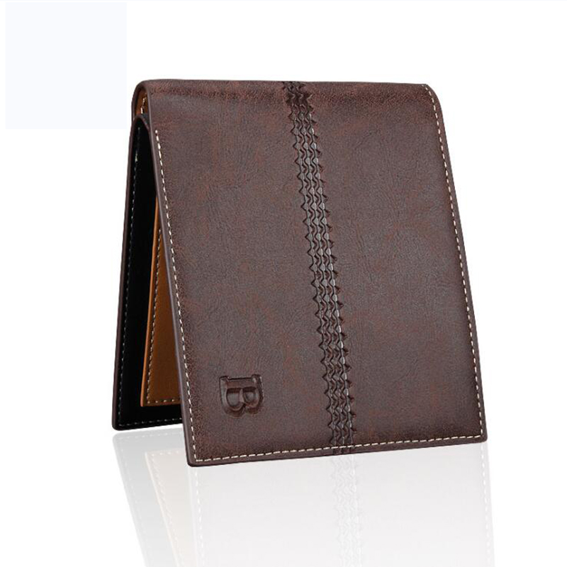 Leather Trifold Wallet Men Money Clips High Quality Business Cards ...