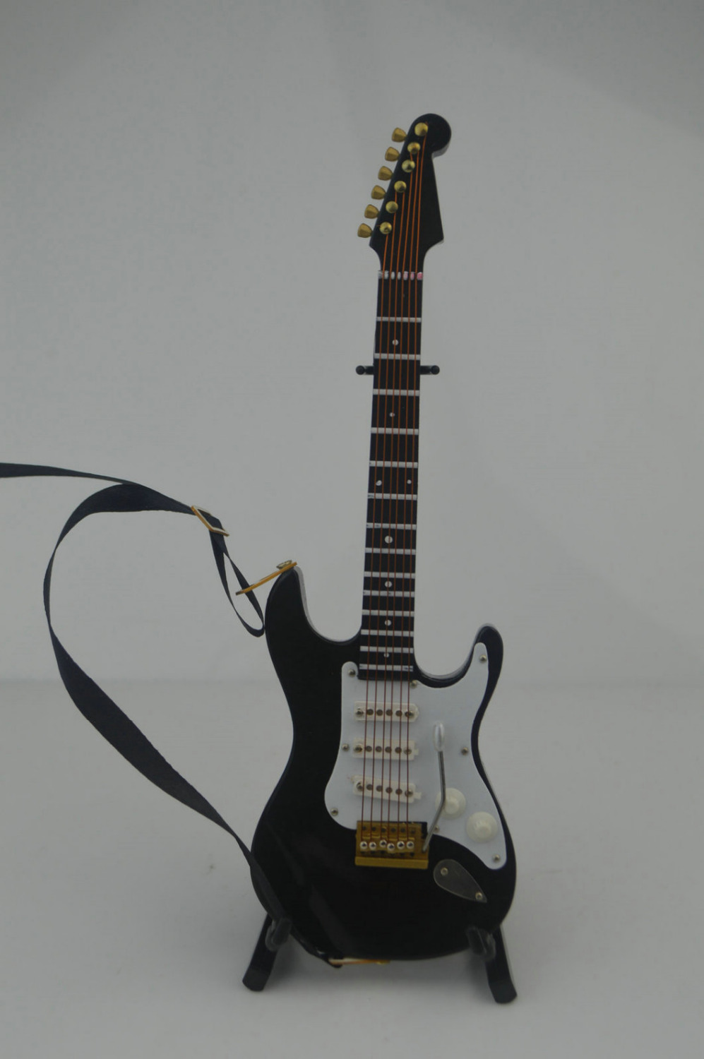 """1//6 Scale Toy White Electric Guitar with Case /& Stand for 12/"""" Action figure"""