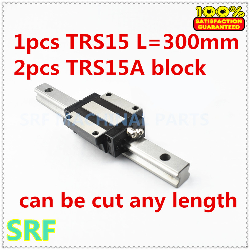 Low assembly 1pcs 15mm width Linear Giude Rail TRS15 L=300mm with 2pcs TRS15A Flange slide block for CNC partLow assembly 1pcs 15mm width Linear Giude Rail TRS15 L=300mm with 2pcs TRS15A Flange slide block for CNC part