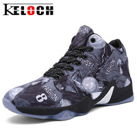 Keloch 2017 Newest Basketball Shoes Men Sports Ankle Boots Cushion Breathable Basket Femme Lace Up Sneakers