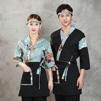 2019 summer japanese restaurant uniforms sushi chef cap unisex style food service clothing professional designed cook japanese