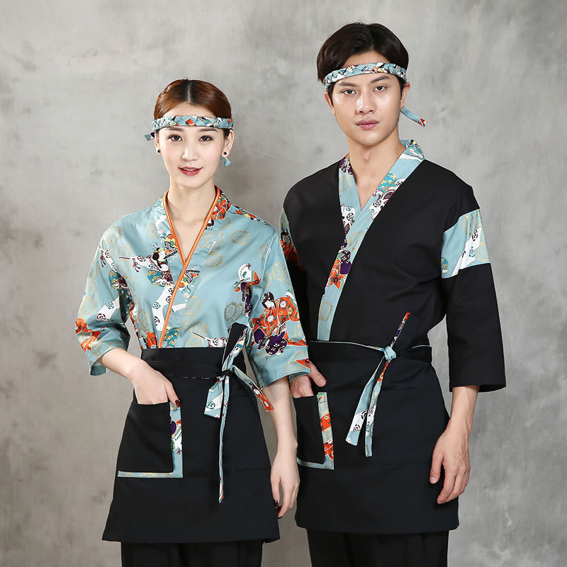 2020 japonais restaurant uniformes sushi chef casquette unisexe style service alimentaire vêtements professionnel conçu cuisinier japonais