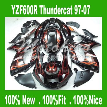 Injection for YAMAHA YZF600R Thundercat 1997-2007 YZF 600R 97-07 97 98 99 00 01 02 03 04 05 06 07 flame fairings kit #922d