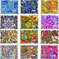 ZKO 1 hoja moda colorida cubierta completa DIY Watermark Sticker calcomanías de transferencia de agua del arte del clavo para la decoración de uñas DIY