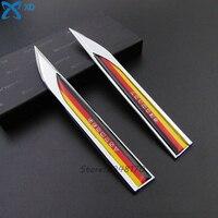 For Germany National Flag Logo Car Styling Fender Side Door Side Metal Sticker Blade Emblem For