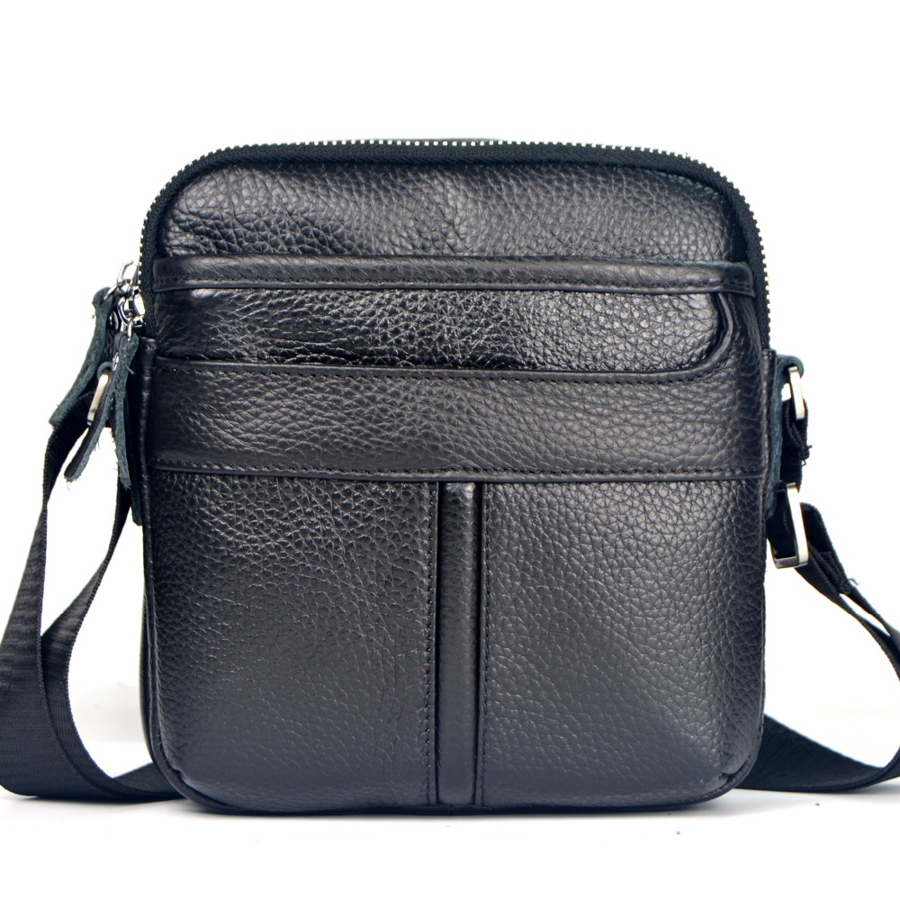 2015 Genuine Leather Small Men Messenger Bags Business