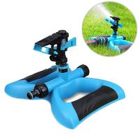 Lawn Irrigation Movable Sprinklers 360 Degree Automatic Rotate Double Inlet Adjustable Garden Watering Water Sprayer E2S