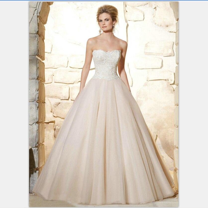 Vestidos de novia color champagne 2016