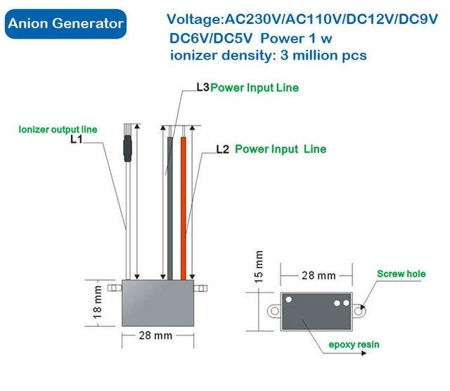 diy home air purifier part negative ion generator 220v ionizer rh aliexpress com Positive Ion Generator How a Ion Generator Work