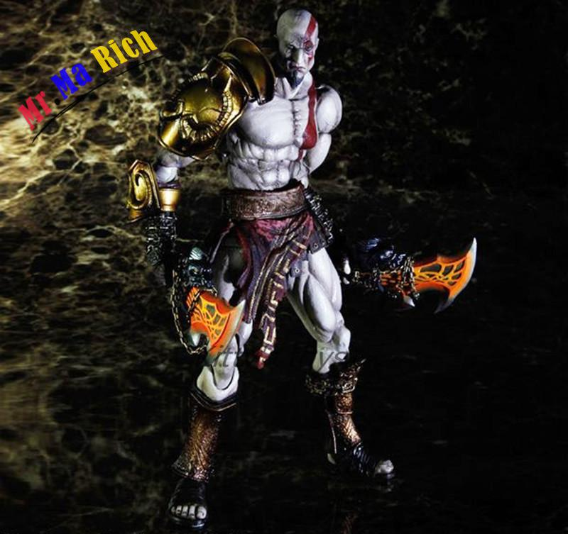 Play Arts Kai God Of War 3 Kratos Ghost Of Sparta Pa 28cm Pvc Action Figure Doll Toys Kids Gift Brinquedos Free god of war 2 pvc action figure display toy doll kratos with medusa head