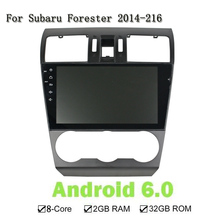 9 Inches Android 6.0 Eight Core Car GPS Navigation DVD Player Head Unit Screen Multimedia Stereo For Subaru Forester 2014-216