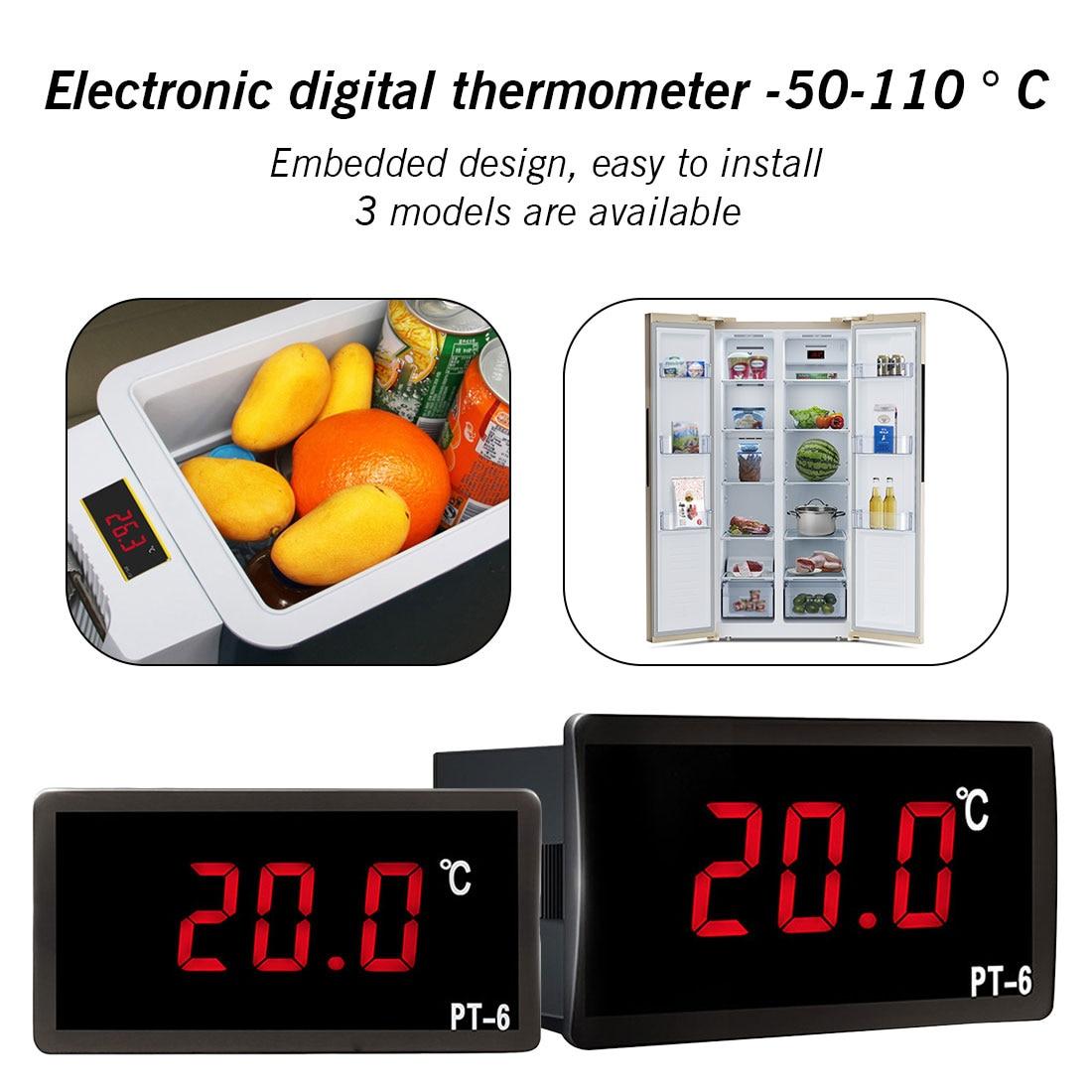Monitor 12V 24V 110V Automotive Thermometer PT-6 -50-110℃ Digital Car Vehicle Temperature Meter