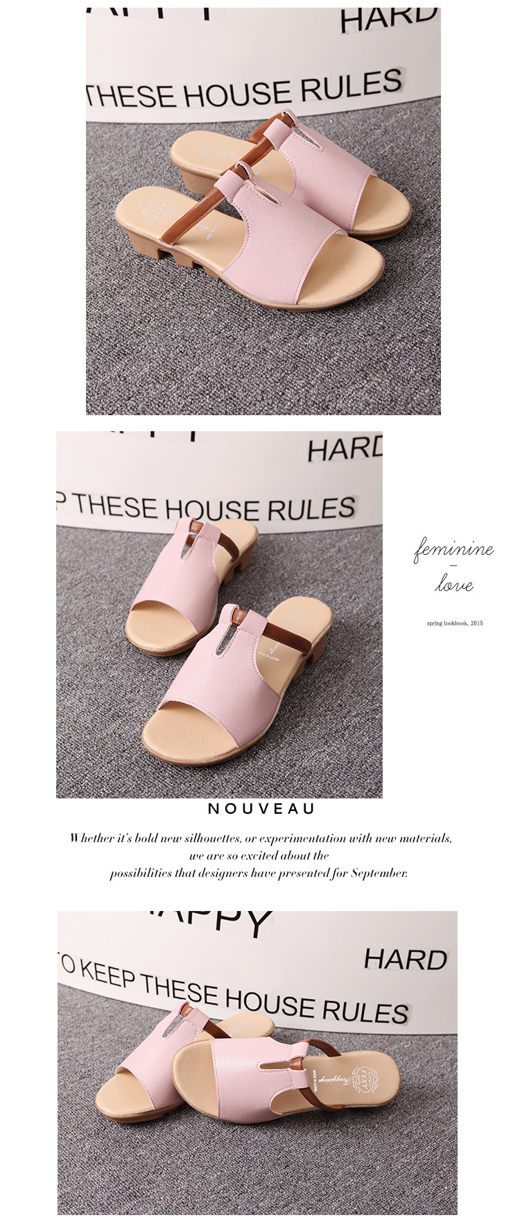 New Summer Slipper Women Slippers Slides Women Sandals Slippers Word Hollow out Women Single Sandals Non-slip Fashion B1210 10