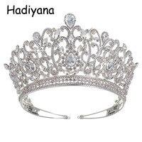 Hadiyana Wholesale Charming Wedding Bridal Bridesmaid Tiara Crown Headband New Fashion Cubic Zinconia Party Jewelry Crown HG6013