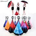 Yamala Reverse Umbrella paraguas rain women Creative Graphic Windproof Car parapluie Umbrella
