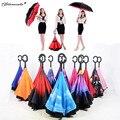 Yamala Reverse Umbrella paraguas rain women Creative Graphic Windproof Car parapluie Umbrella