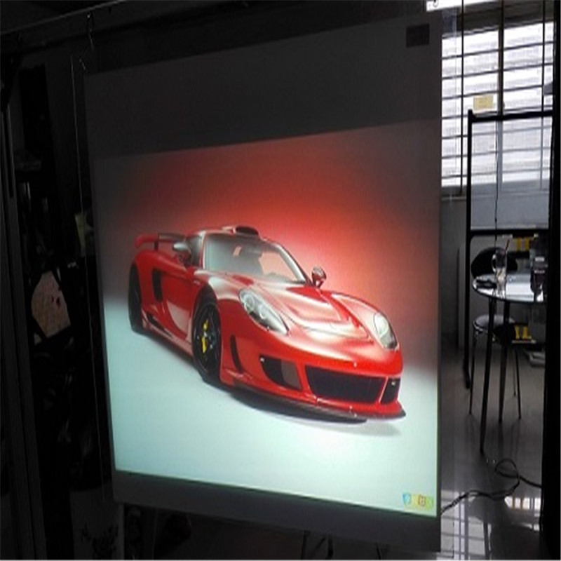 1.52x8m   Black Adhesive Rear Projection Screen Film /High Contrast for POS display hot selling 150 4 3 format fast quick fold projection screen for include front and rear projection screen case