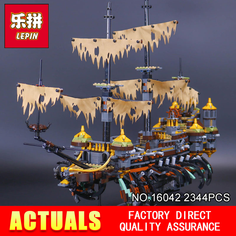 Lepin 16042 2344Pcs The Slient Mary Set New Pirate Ship Series Children Educational Building Blocks Bricks Toys Model Gift 71042 pirate ship metal beard s sea cow model lepin 16002 2791pcs building blocks kids bricks toys for children boys gift compatible