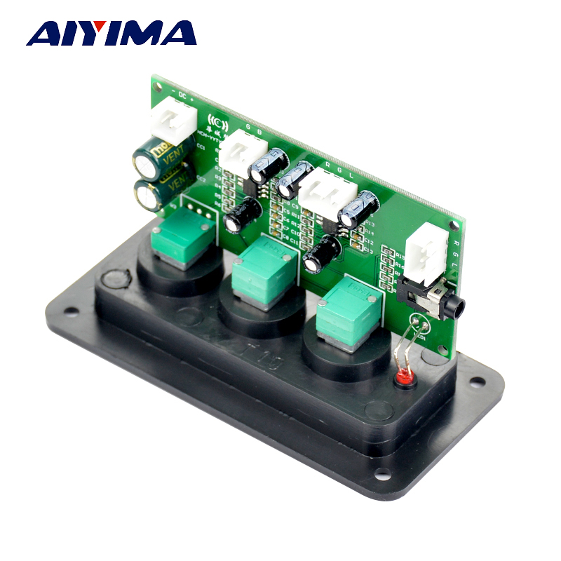 Aiyima HIFI 2.1 Tone Board Digital Amplifier DIY Dual NE5532 Tweeter Bass Volume Control Tone Single Power With Panel new arrival ne5532 op amp hifi amplifier preamplifier volume tone eq control board diy kits free shipping