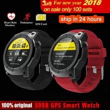DoubleX S958 GPS Relógio Inteligente Esporte Monitor De Freqüência Cardíaca À Prova D' Água Suporte Do Cartão SIM Bluetooth 4.0 Smartwatch para Android IOS Telefone