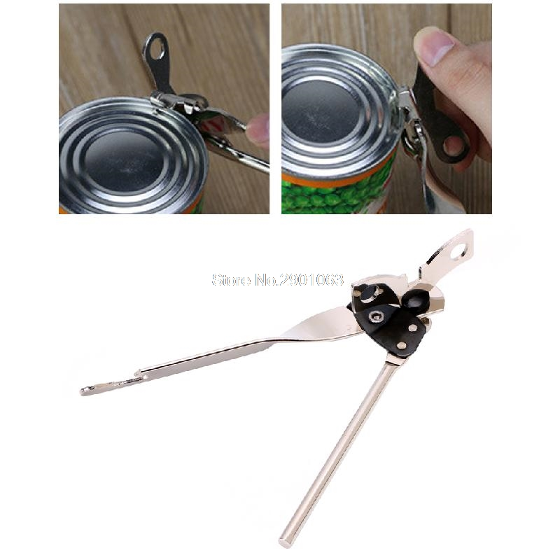 Butterfly Style Stainless Steel Can Bottle Jar Tin Opener Manual Food Camping Travel Drop Ship