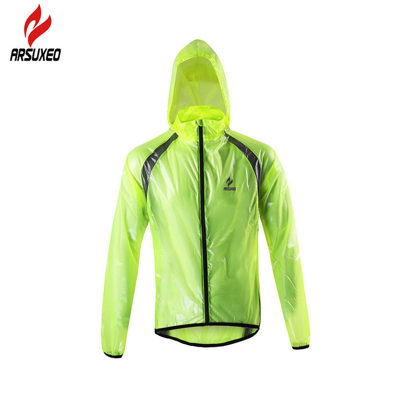 pretty cheap colours and striking big clearance sale US $17.09 43% OFF|ARSUXEO Ultralight Reflective Cycling Rain Jacket Men  Women Waterproof Windproof Bike Bicycle Rain Coat with 3 Zipper Pockets-in  ...