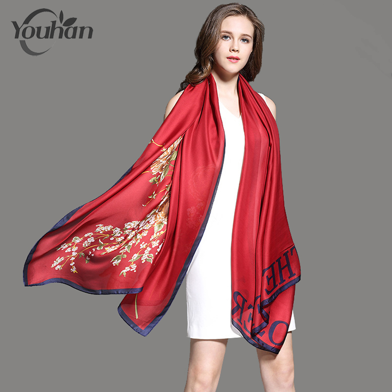 YOUHAN 2018 New Fashion Women Scarf Silk Spring Summer Female Scraf Shawl Ladies Scarves ...