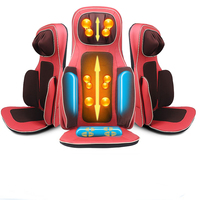 BYRIVER Latest 3D Airbag Electric Vibrating Kneading Shiatsu Car Home Seat Massage Cushion Chair Body Massager Device