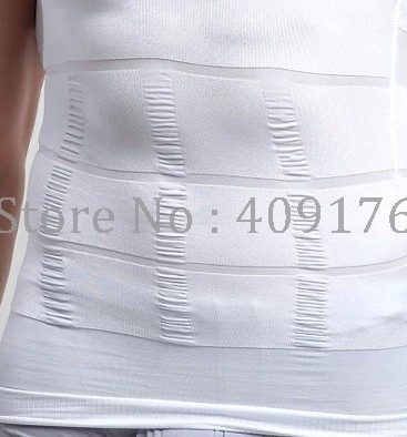 Slimming Shaper PRAYGER 2pcs Men Gynecomastia Control Belly Tops Tummy Trimmer UnderShirts X Support Back Body Vest 3