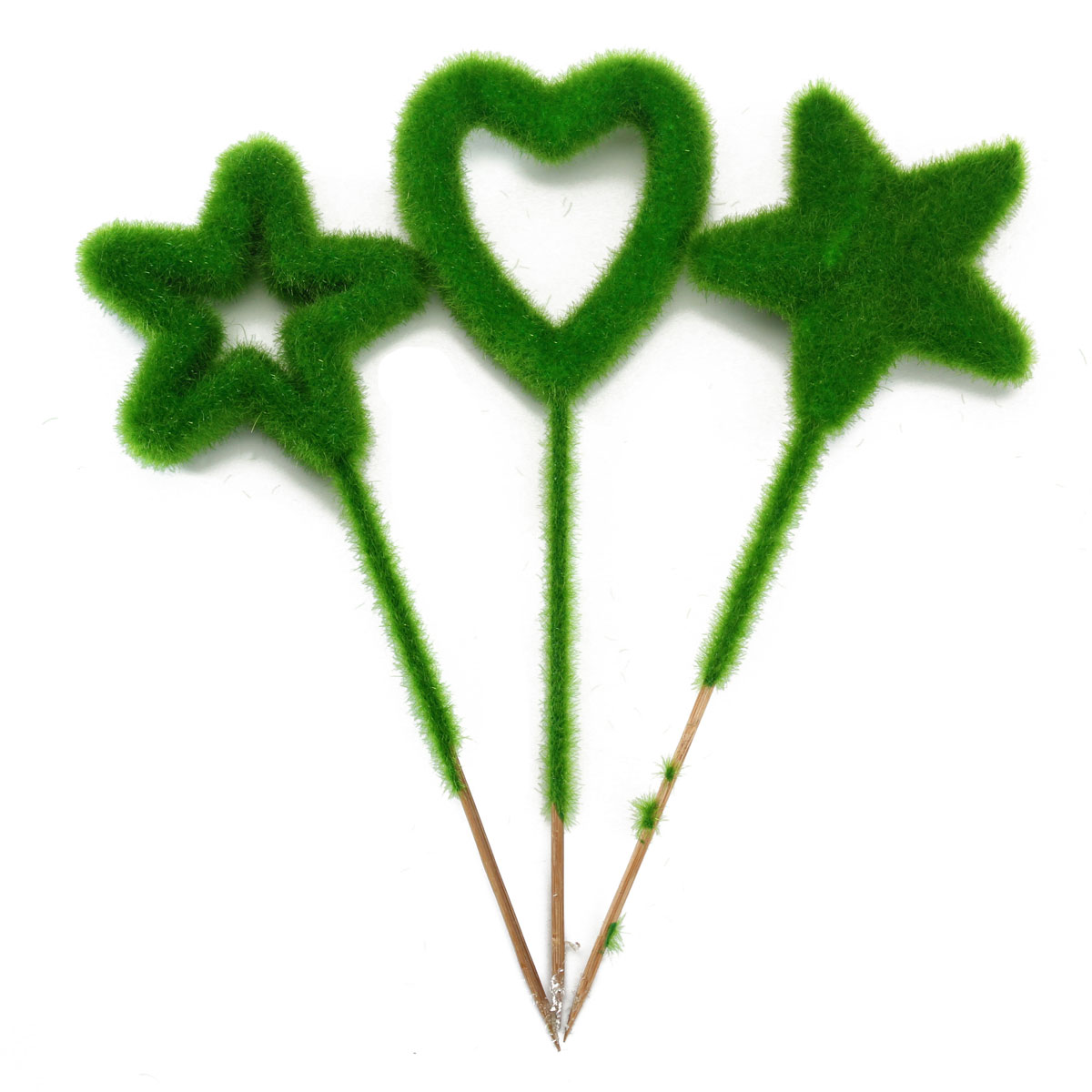 hot garden artificial flowers cheap fake green plant star heart shaped ornament home desktop decoration