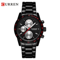 High Quality CURREN 8016 Elegant Sport Mens Watch With Round Dial Stainless Steel Band