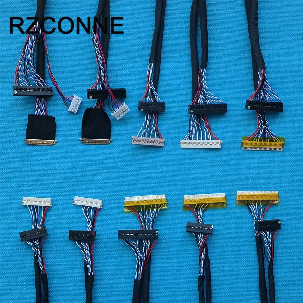 Универсальный LVDS кабель 40 Pin 30pin 20pin для LED ЖК-дисплея панель контроллера Поддержка 14 дюймов-55 дюймов экран 10 шт./компл.