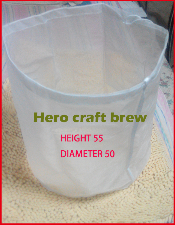 Home Brew 55cm * 50cm Brouwen Filter Bag Para Craft Brew In Bag Todo el grano Homebrew Wine Filter Bag Rice Wine puede ser personalizado