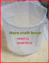 Фотография Height 55cm Dia 50cm Mash Tun Malt Filter Bag For In Bag Homebrewer Filter Bag Hop Sock Can Be Customized
