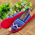Zapatos de mujuer women fashion spring and summer peas shoes cool stripe lady slip on dance flat shoes casual flats