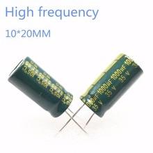 60~200pcs 35V 1000UF 1000UF 35V 10*20 power supply special high-frequency crystal Electrolytic Capacitor 35V1000uf 20%