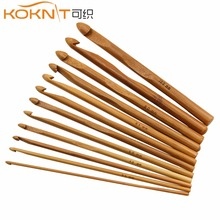 12 Pcs KOKNIT Knitting Needles Crochet Bamboo Handle 3-10mm Hooks Set DIY Craft Tools
