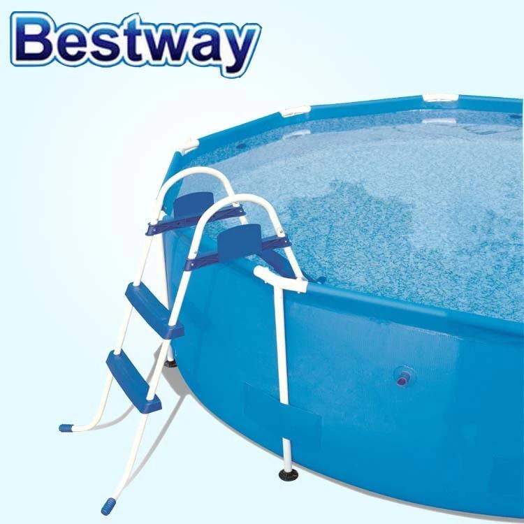 bestway echelle de piscine a support 76cm accessoires de piscine d exterieur 58329