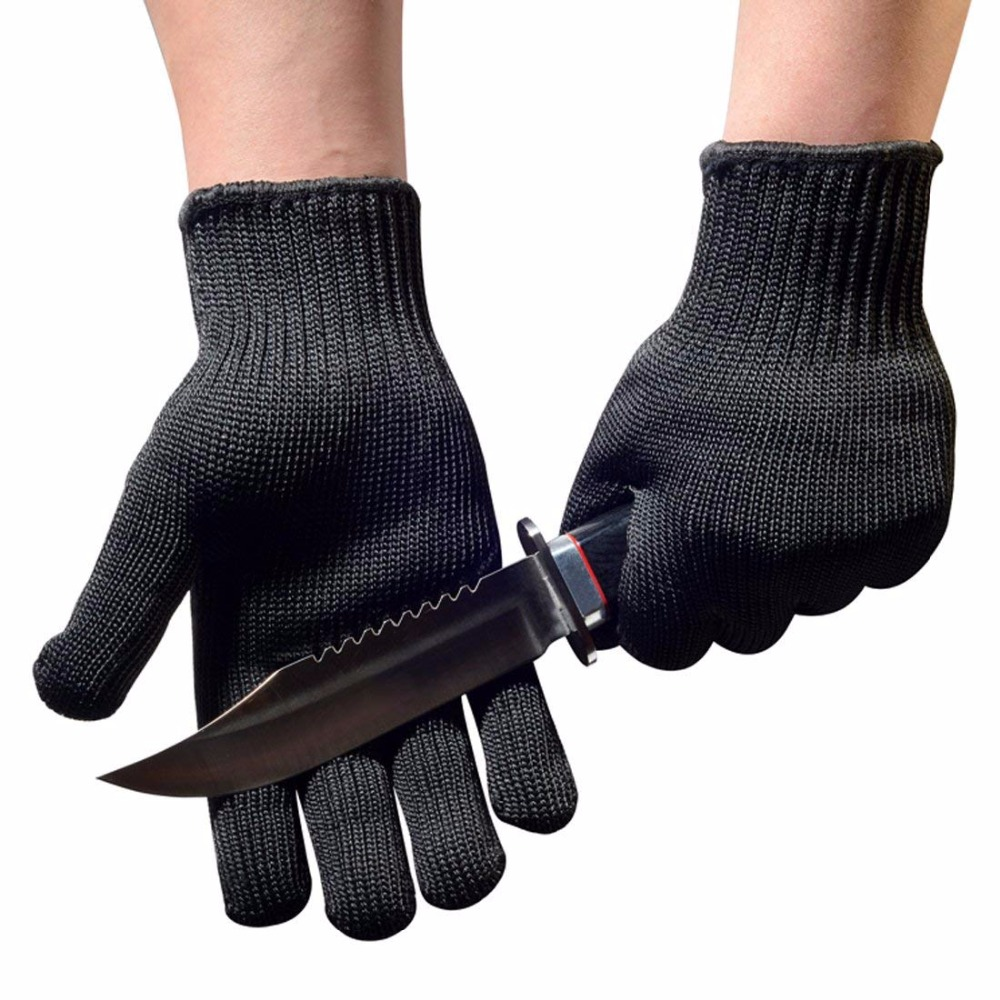 6 Pairs Hand Protect Level 5 Chef Butcher Kitchen Use Industrial Yarn Steel Wire Anti Cut Proof Work Safety Gloves To Be Renowned Both At Home And Abroad For Exquisite Workmanship, Skillful Knitting And Elegant Design