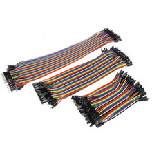 40pcs 10cm 20cm 30cm 2.54mm  Female to Female Color Breadboard Cable Jump Wire Jumper For Arduino Whole Electrical Cables