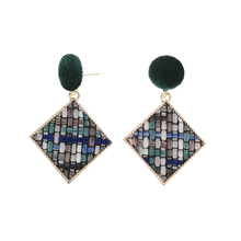 delicate Irregular earrings Ms. Golden geometric retro popular wholesale