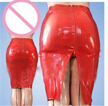 Latex Skirt Women  Latex Skirt Back ZIp Unique Party Skirt