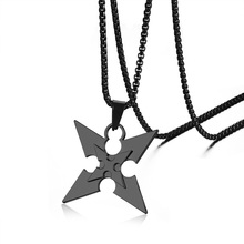 Anime Ninja Darts Hand Pendant Necklace Kunai Shuriken Jewelry