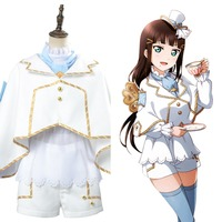 Love Live ! Dia Kurosawa Aqours Wonderland Ver Maid Dress Cosplay Costume Full Set