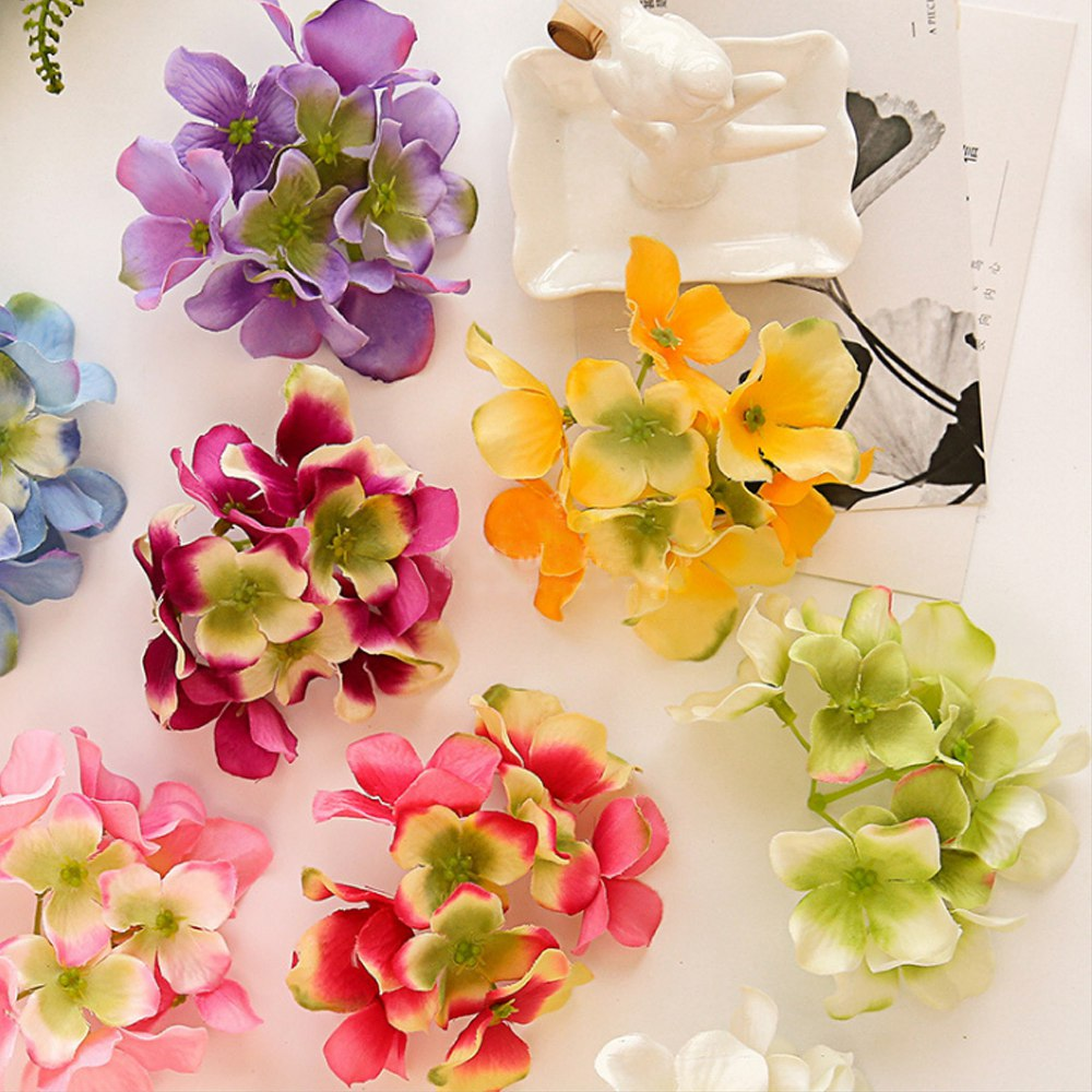 Hot sale 10pcs artificial flowers cheap for christmas wreath home 10pcs artificial flowers cheap for christmas wreath home wedding decor accessories fake plastic diy a cap gifts silk hydrangea izmirmasajfo